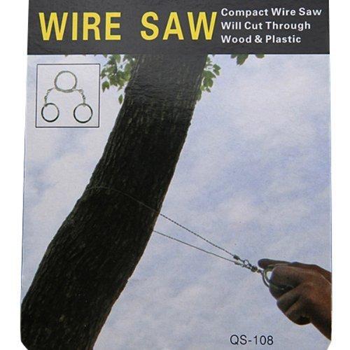 FamilyMall -  Sierra de cable de emergencia (acero,  anillas de metal)