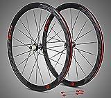 jklapin 700C Super-Light Roues de vélo de Route en Aluminium avec roulement scellé Rayons Plats Roues de Course 40 mm