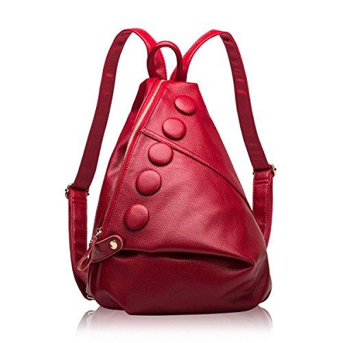Damen-Tasche Reisetasche Koreanische Version Mode Umhängetasche WineRed
