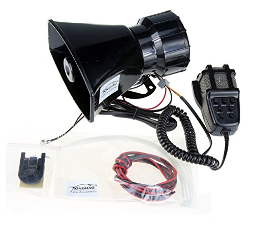 Preisvergleich Produktbild Hupen Signalhörner 12V 80W 7 Ton Sound Auto Sirene Fahrzeug Horn mit Mic PA Lautsprechersystem Notfall Sound Amplifier Auto Sirene Lautsprecher