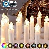 CCLIFE 30PCS Set di Luce a Candele RGB Decorazione LED Albero di Natale, con Telecomando e Clip, Colore:Beige, Dimensione:30PCS