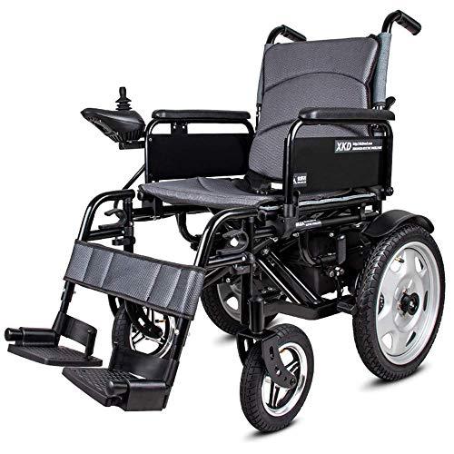 Älterer Behinderter Leichter, Faltbarer Doppelfunktions-Elektrorollstuhl (Liion-Polymer-Akku) mit Magnesiumlegierungsrand. Fahren Sie mit Strom Oder Verwenden Sie Es Als Manuellen Rollstuhl. (Elektro -