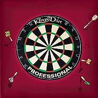 Kings Dart Dart-Set | Dartboard Komplettset: Turnier-Dartscheibe + Dart-Surround | Sisal-Borsten, Spider-Feldbegrenzung | Schutz für Wand u. Darts | Für Soft- u. Steeldarts | Markenqualität