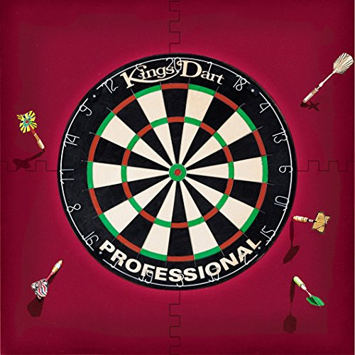 Kings Dart Dart-Set | Dartboard Komplettset: Turnier-Dartscheibe + Dart-Surround | Sisal-Borsten, Spider-Feldbegrenzung | Schutz für Wand u. Darts | Für Soft- u. Steeldarts | Markenqualität (Board Set Dart)