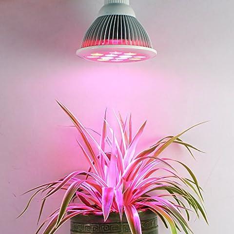 Roleadro Pflanzenlampe E27 12w Grow Led pflanzenleuchte Wachstumslampe für Zimmerpflanzen Blumen und Gemüse