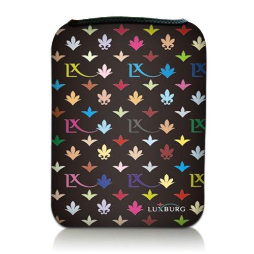 Luxburg® Design Tasche Hülle Sleeve Etui für eBook Reader und Tablet PC bis 7 Zoll, Motiv: LX Muster schwarz