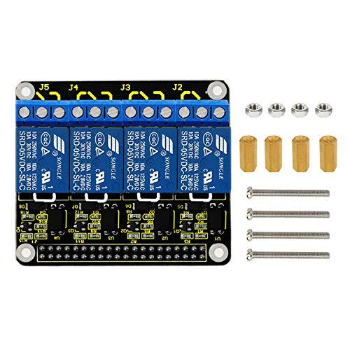 KEYESTUDIO 4 Channel DC 5V Modulo Relay Expansion Board Power Relay Board Module per Raspberry Pi 3 2 A+ B+ 2B 3B