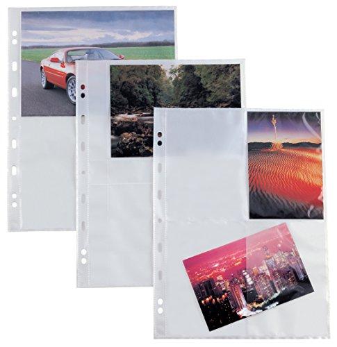 Sei Rota 662503 - Buste con foratura universale, 4 spazi per foto da 15 x 21 cm, Formato A4, 10 Pezzi