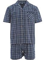Mens Shorts Pyjamas Sleepwear Lighweight Poly Cotton Pajamas Shorts - M - XXL
