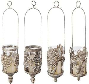 antike eisen h ngelaterne windlicht zum aufh ngen ca 43 cm h he 1 st ck k che. Black Bedroom Furniture Sets. Home Design Ideas