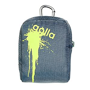 Golla etui photo splat-s. nylon aqua. dim int : 9,5 x 7 x 2,5 cm