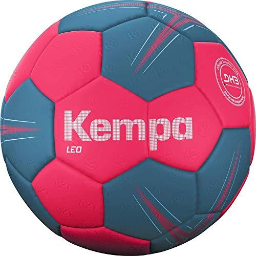 Kempa Leo Balón de Balonmano, Juventud Unisex, Coral/Lilac Grey, 0