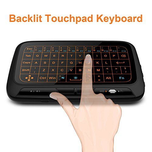Mitid Backlit Touchpad Mini Wireless Keyboard With Full Screen Touchpad for Computer, TV Boxes, IPTV, Smart TV