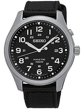 Seiko Herren-Armbanduhr Kinetic Analog Quarz Nylon SKA727P1