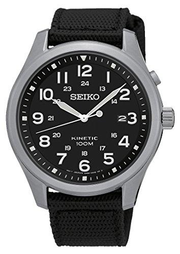 Seiko Reloj Analógico de Cuarzo para Hombre con Correa de Nailon - SKA727P1