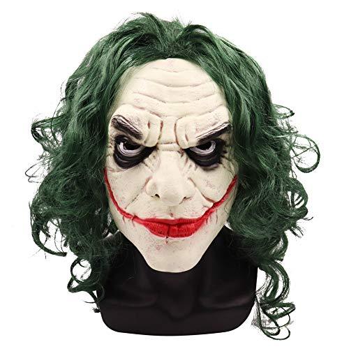 Azly-Mask Horror Overhead Clown Maske, Erwachsenen Unisex Latex Kostüm Deko Requisiten, Einheitsgrösse, für Halloween Kostüm Party Mardi Gras - Mardi Gras Clown Kostüm