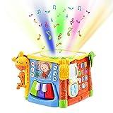 PER Baby 6-lato Cube Box Giocattoli Attività di apprendimento Cubo Baby Musical Colorful Fun House Blocchi geometrici elettronici apprendimento Giocattoli educativi Giocattoli prescolari Regalo per ba