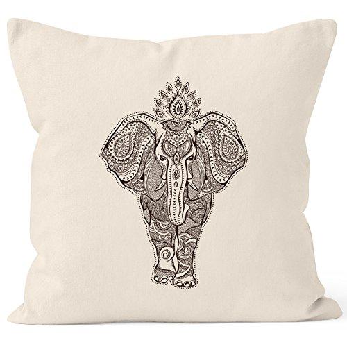 Almohada zentangle elefante Mandala Boho Bohemian étnico Cojín de móvil–Cojín de decoración...