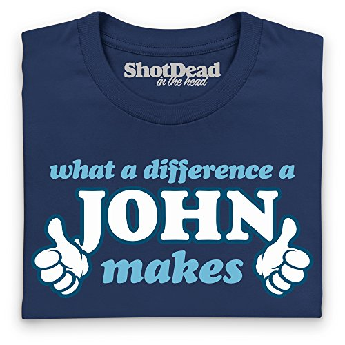 What A Difference A John Makes T-Shirt, Herren Dunkelblau
