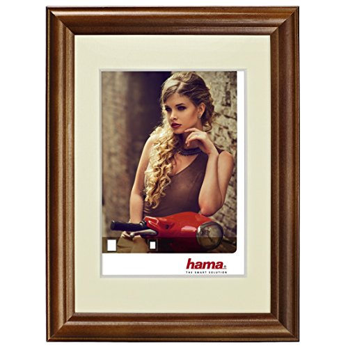 Hama Bellina Brown Single Picture Frame - Picture Frames (Glass, Wood, Brown, Single Picture Frame, 10 x 15 cm, Reflective, Landscape)