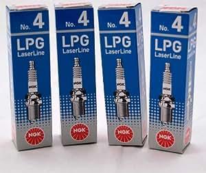 4 x Bougie d'allumage nGK 1511 gPL laserLine no 4 (gPL 4)