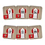 Official PERSONALISED Southampton FC Dressing Room Coasters 6 Pack - FREE PERSONALISATION
