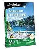 WONDERBOX - Coffret cadeau sejour - WEEK-END ET DÉLICES EN AMOUREUX - 850 séjours gourmands et romantiques en Châteaux, manoirs, tipi, moulins, cabanes, belles demeures en France ou en Europe