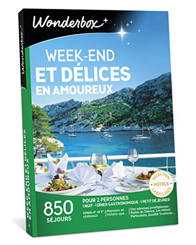 WONDERBOX - Coffret cadeau couple - WEEK-END ET DÉLICES EN AMOUREUX - 850 séjours...