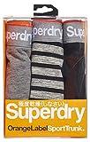 Superdry Herren Slip O L Sport Trunk Triple Pack, Mehrfarbig (Grvlgryspcdy/Gravlgrystrpe/Blk Vb5), Large