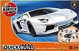Picture Of Airfix J6019 Quick Build Lamborghini Aventador Model, White
