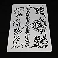 transparent : 2017 New Bakeware 1PC Baking Kitchen Accessories Flower Fondant Cake Decorating Tools Cake Stencil Template Mold