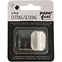 Paperfuel Replacement for Cutting and Board | 1 Trimmer 1 Scoring Blade, Plastik/Metall, Schwarz/Weiß, 10,2 x 8,5 x 1,5 cm