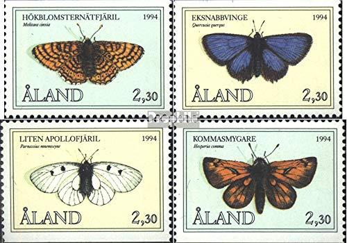 Prophila Collection Finnland - Aland 82-85 (kompl.Ausg.) 1994 Schmetterlinge (Briefmarken für Sammler) Schmetterlinge