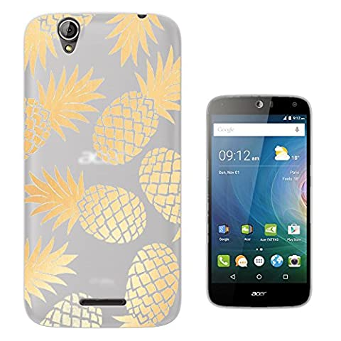 c01406 - Tropical Pineapple Fruit Fashion Trendy Design Acer Liquid Z630 Z630S Fashion Trend Protecteur Coque Gel Rubber Silicone protection Case Coque