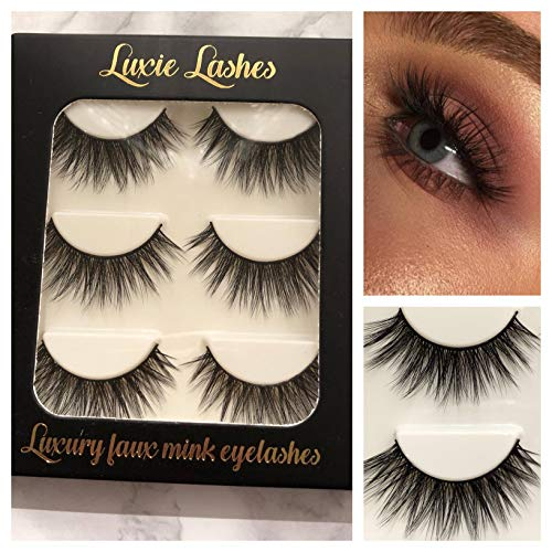 LUXIE LASHES 3D Luxury Fluffy Faux Mink Tira natural