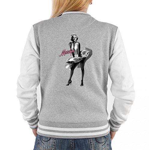 College Jacke für Damen - Schönheit im weißem Kleid - Cooles Outfit oder Geschenk Idee für Marilyn Monroe Fans, (Outfit Ideen Marilyn Monroe)