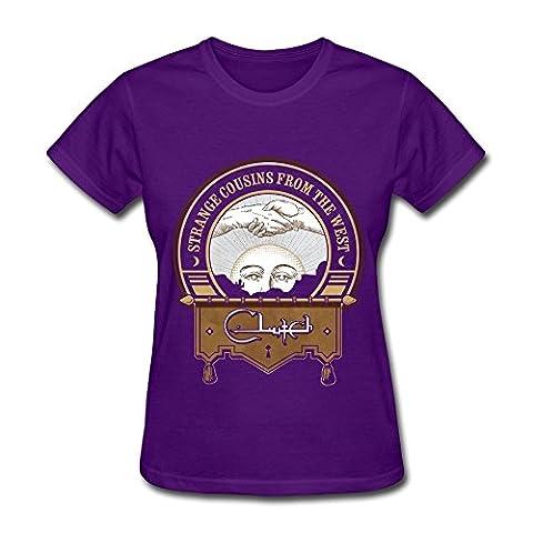 Nana Women's Tshirts Clutch Band Strange Cousins Size L Purple