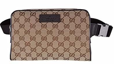3c49b2548ade07 ... Gucci Men's GG Guccissima Small Canvas GG Waist Belt Fanny Pack Bag