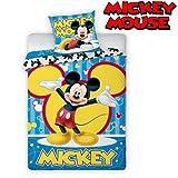 Unbekannt Faro 2 TLG Kinderbettwäsche Bettwäsche 140x200+70x80 878 Mickey Mouse, Baumwolle, Mehrfarben, 200 x 140 cm