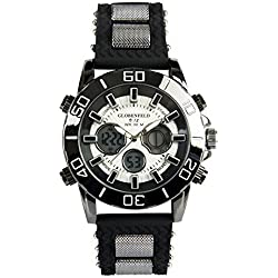 Globenfeld Limited Edition V12 Mens Sports Watch with Black Metal Casing and Durable Rubber Wrist Band - Men's Luxury Water Resistant Watch - 5 Year Manufacturer Warranty Included