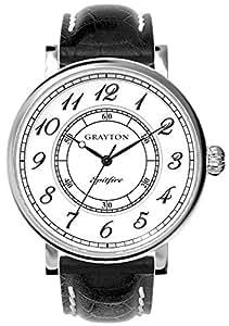 Grayton - GR-0014-001.1 - Montre Homme - Quartz Analogique - Bracelet Cuir Noir