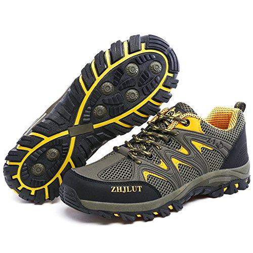 HUSK'SWARE Mesh Waterpro Scarpe Da Trekking da Uomo Scarpe da Escursionismo Sportive Scarpe Estive Scarpe Trekking Uomo Giallo