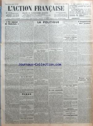 ACTION FRANCAISE (L') [No 330] du 26...
