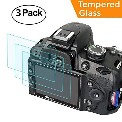 Displayschutzfolie für Nikon D3400 D3300 D3200 D3100 D3000 Kamera, masstimo 3 Pack gehärtetem Glas LCD Display Schutz Guard für Nikon DSLR-Kamera