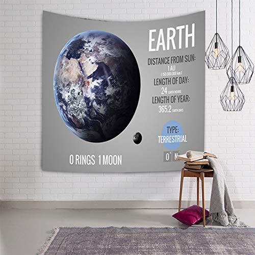 xkjymx Yoga Stoff drucken Sonnenaufgang Ölgemälde Muster hängen große Wand Planet Tapisserie Kunstdruck