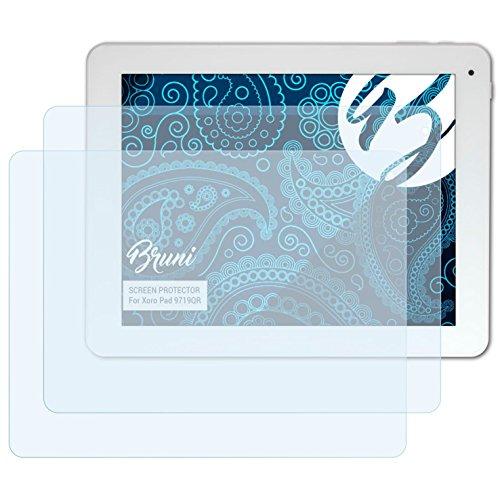 Bruni Schutzfolie für Xoro Pad 9719QR Folie, glasklare Displayschutzfolie (2X)