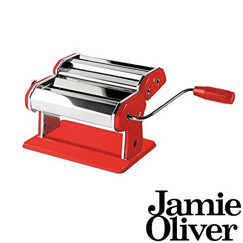 Jamie Oliver 500964 Pasta Maker Nudelmaschine Edelstahl Rot