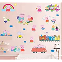 Peppa Pig Paquete múltiple decoración de pegatina de pared para niños