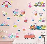 Peppa Pig Confezione multipla Adesivi murali Maxi Decalcomania Bambini
