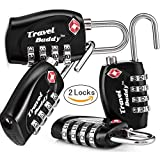 2 x TSA Security Padlock - 4-Dial Combination Travel Suitcase Luggage Bag Code L